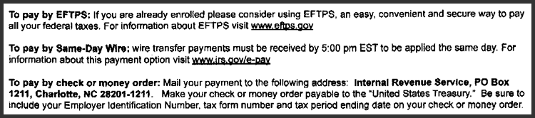 IRS Notice Decoder - Bank Payment Error - Payment Options