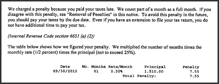 IRS 2290 Notice Decoder - HVUT Penalties - Calculation