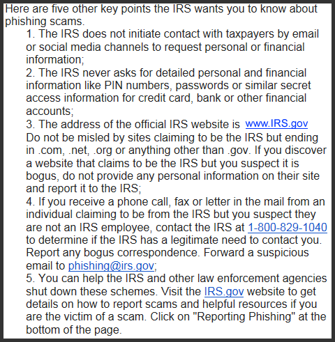 IRS 2290 Notice Decoder - Phishing - 5 Things you should know