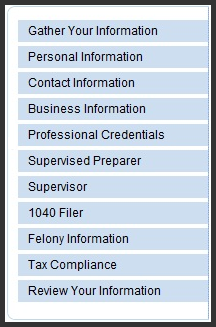 IRS PTIN Review your Personal Informaion