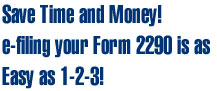 Save Time and Money filing form 2290